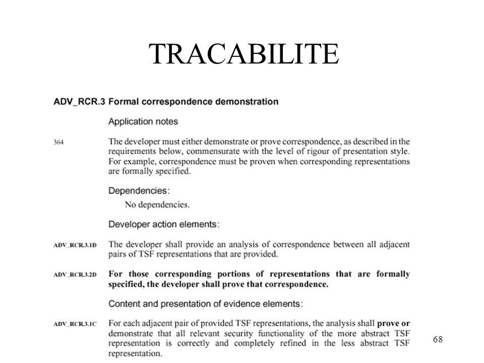 68 TRACABILITE