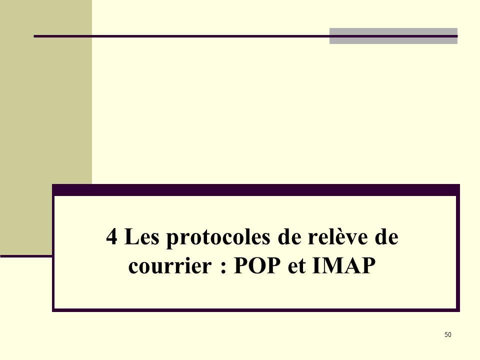 50 4 Les protocoles de relève de courrier : POP et IMAP