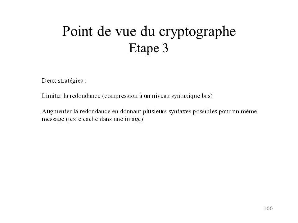 100 Point de vue du cryptographe Etape 3