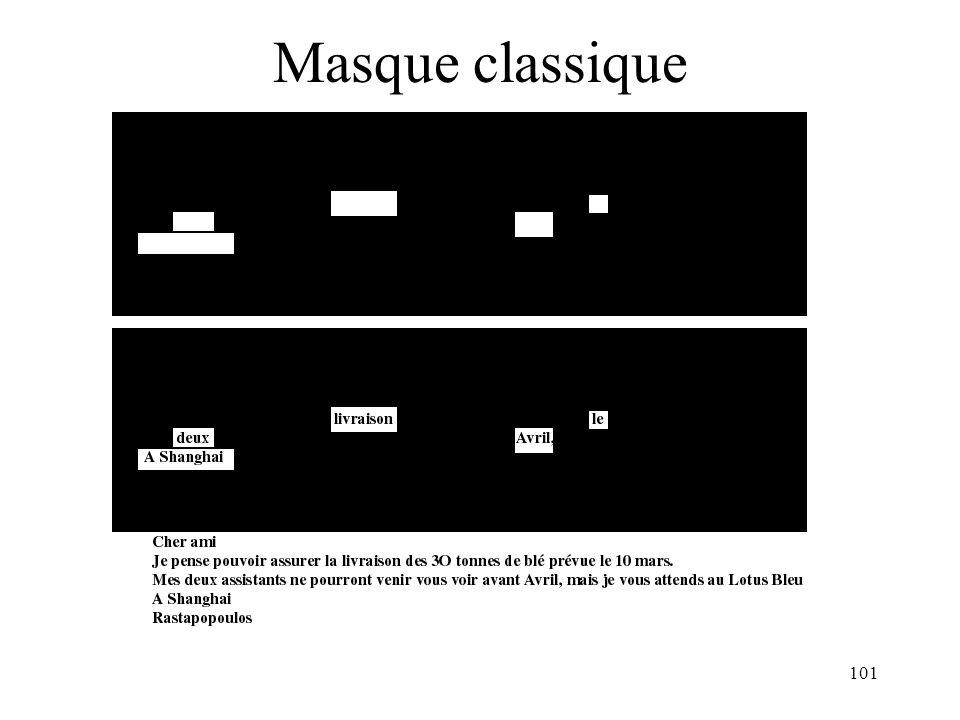 101 Masque classique