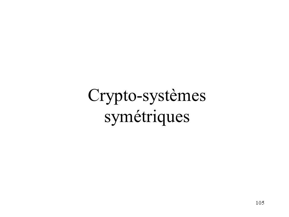 105 Crypto-systèmes symétriques