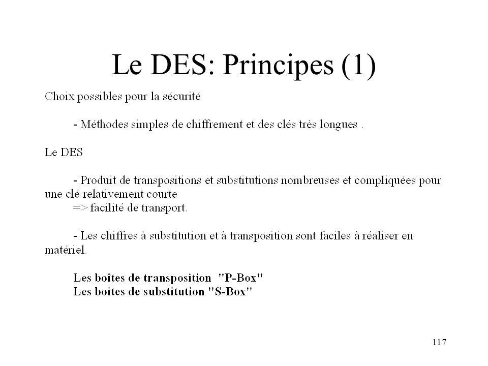 117 Le DES: Principes (1)