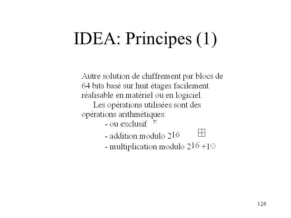 126 IDEA: Principes (1)
