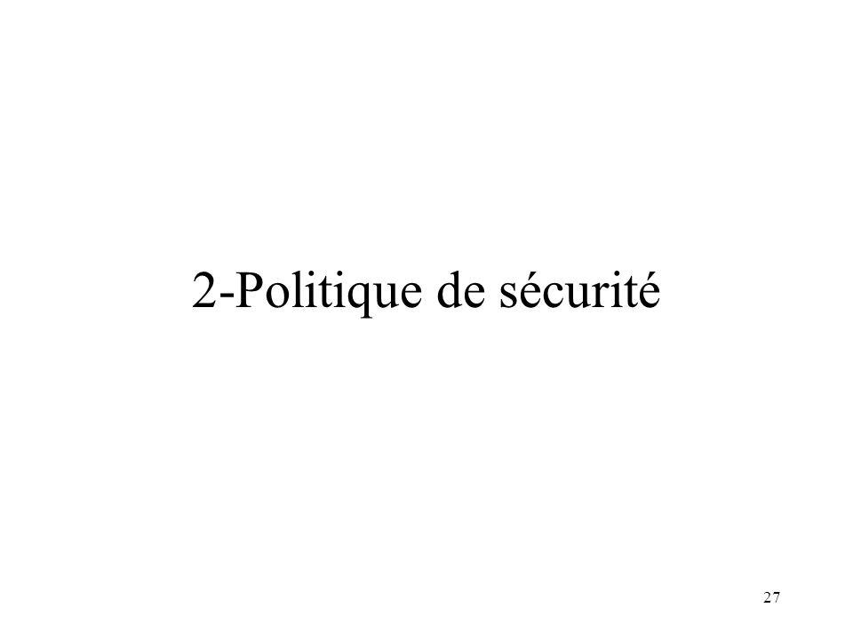 27 2-Politique de sécurité