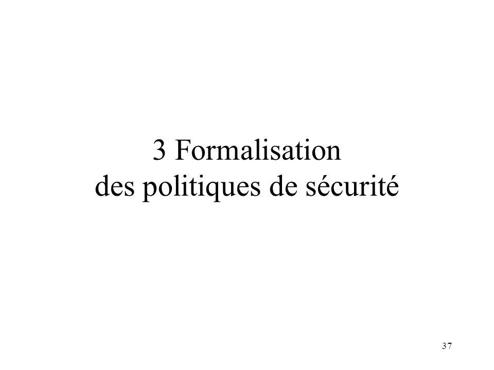 37 3 Formalisation des politiques de sécurité
