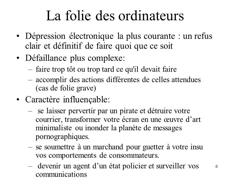 67 ÉTAPES TYPES DANS L ÉTABLISSEMENT D UNE POLITIQUE DE SÉCURITÉ Définition de la politique Identification des vulnérabilités.