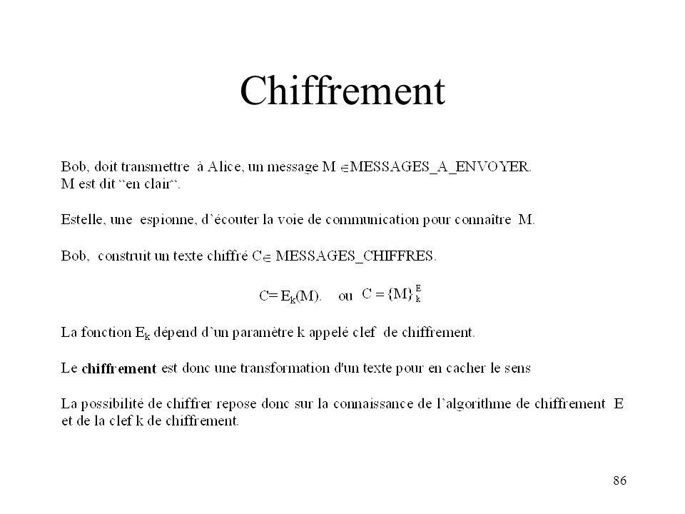86 Chiffrement