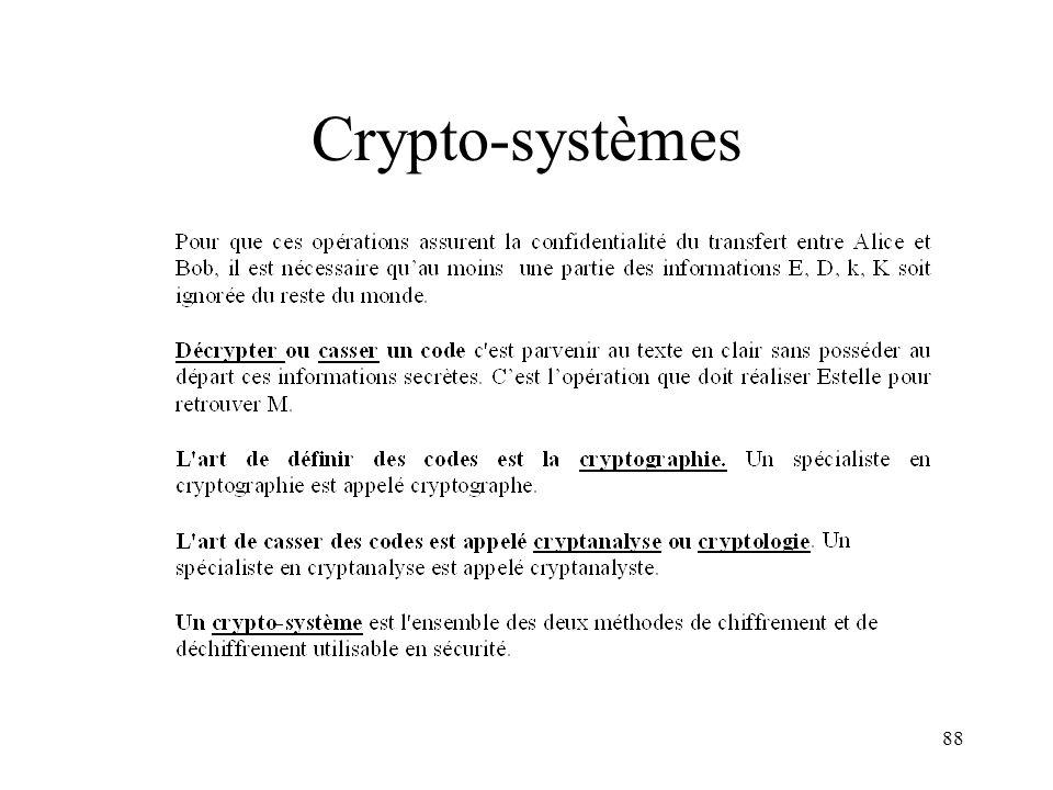 88 Crypto-systèmes
