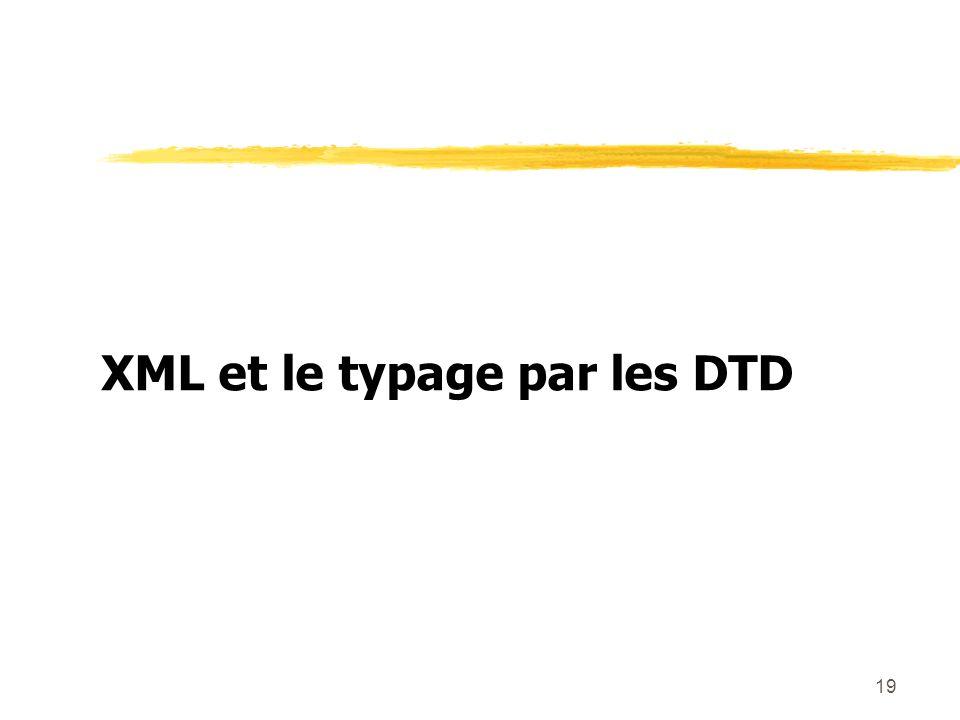 19 XML et le typage par les DTD