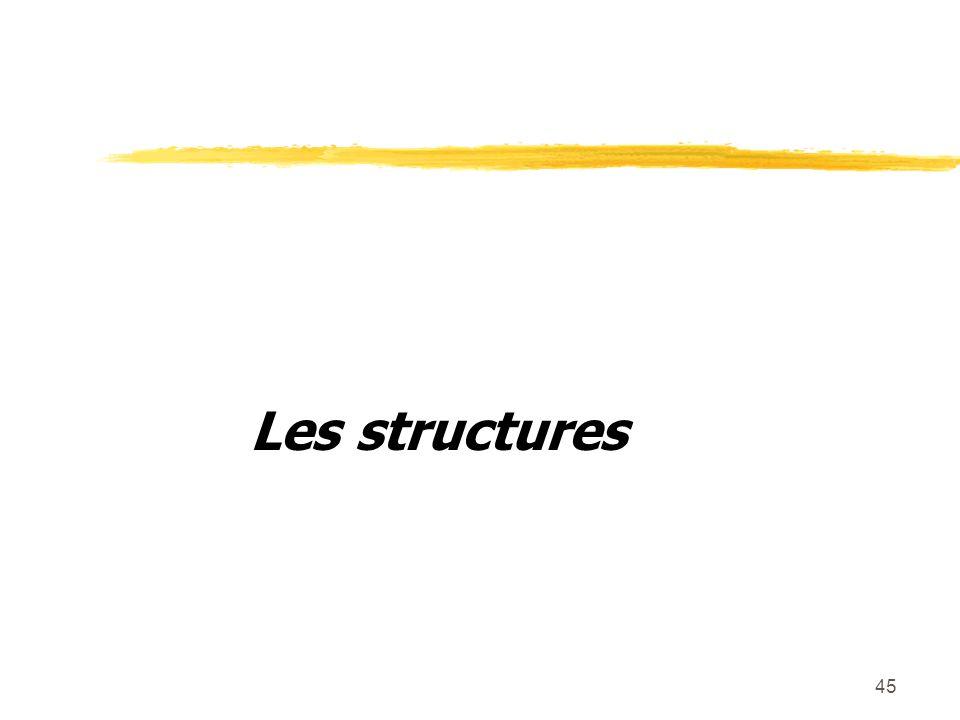 45 Les structures