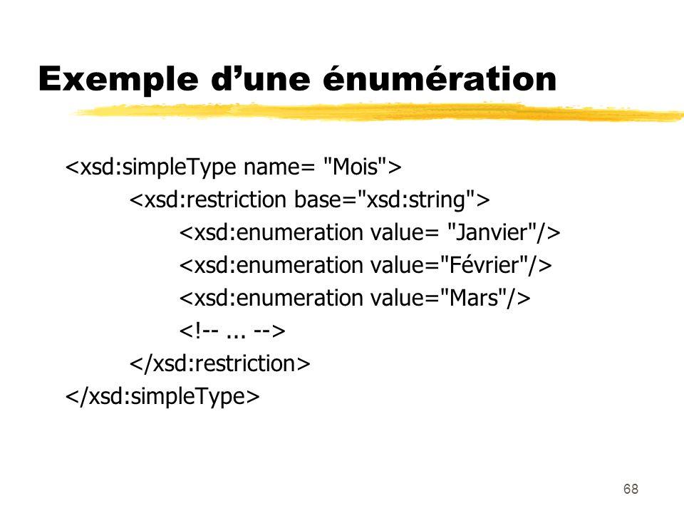68 Exemple dune énumération