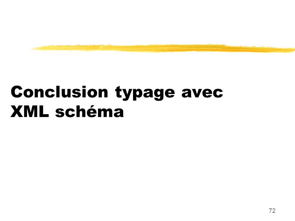 72 Conclusion typage avec XML schéma