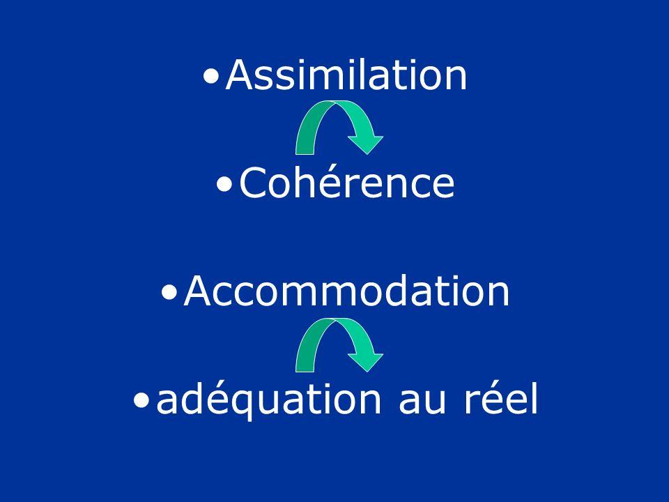 Assimilation Cohérence Accommodation adéquation au réel