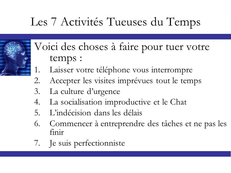 LES 7 RECETTES La méthode ABCDE se base principalement sur la loi de la concentration sur le PLUS IMPORTANT en respectant les ROLES quon joue dans notre vie