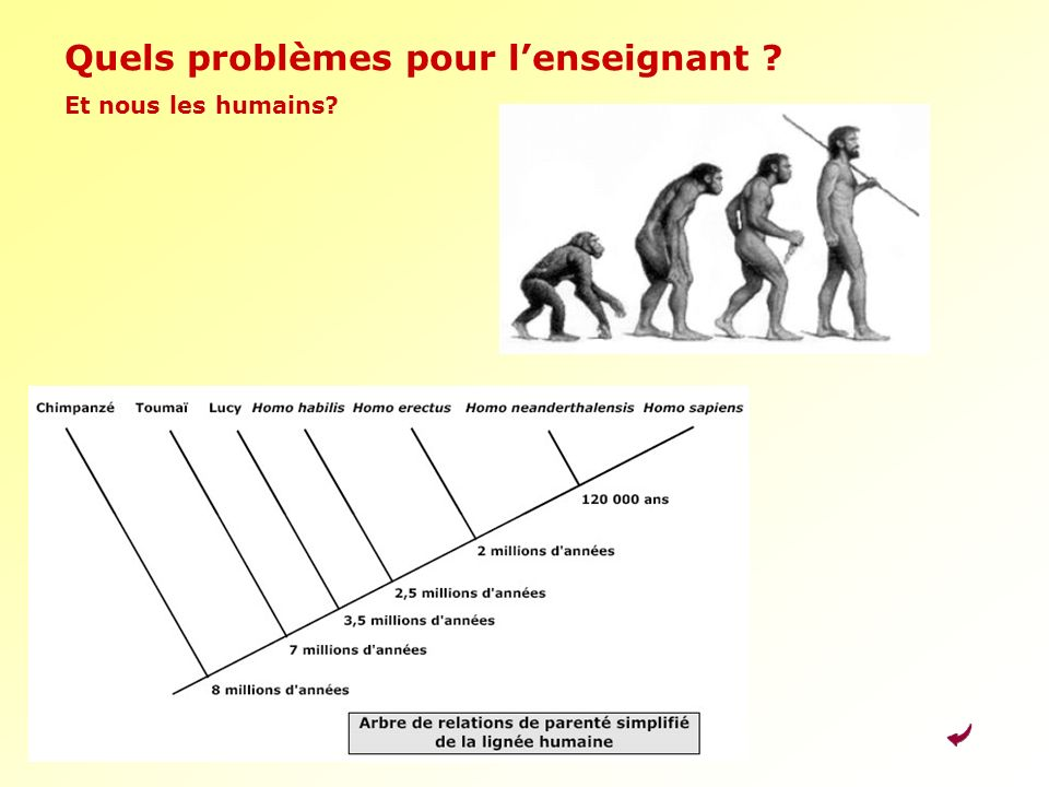Quels problèmes pour lenseignant ? Et nous les humains?