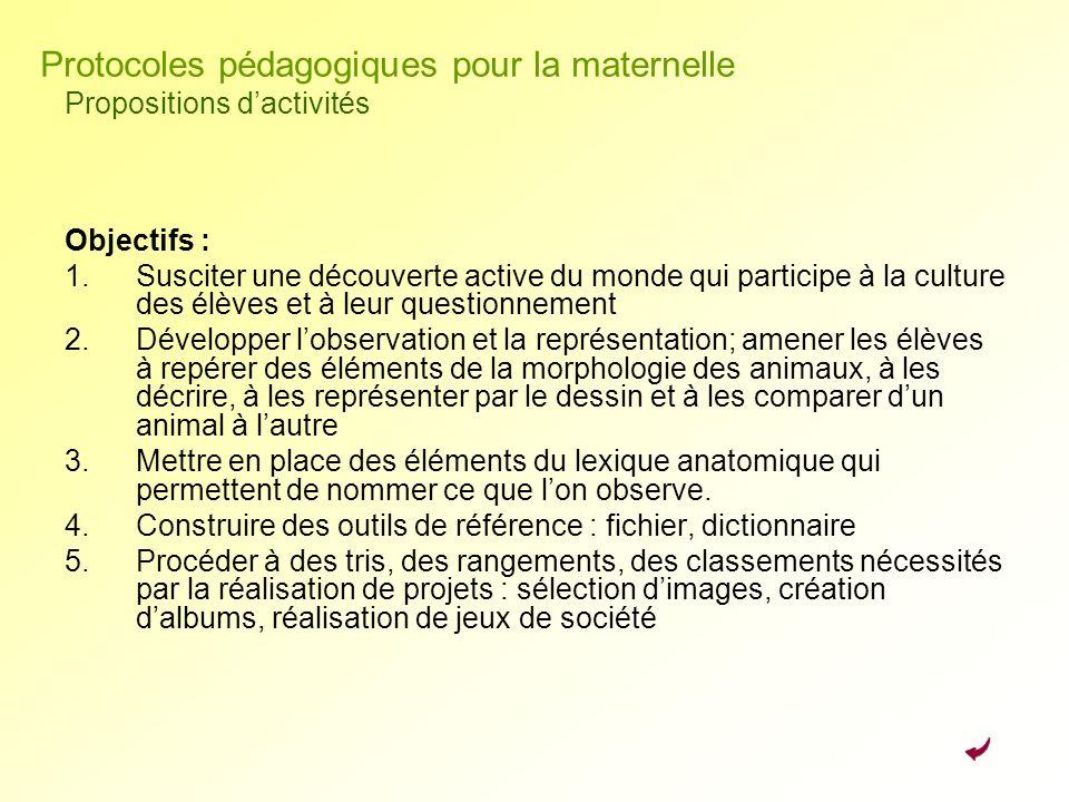 Objectifs : 1.Susciter une découverte active du monde qui participe à la culture des élèves et à leur questionnement 2.Développer lobservation et la r