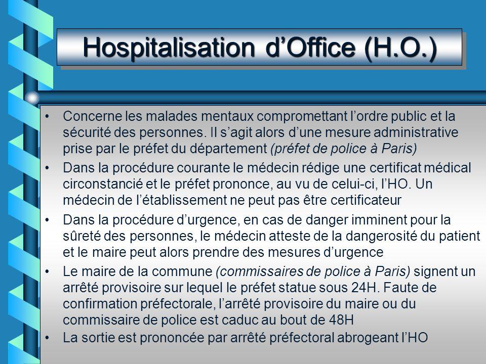 Hospitalisation à la Demande dun Tiers Un tiers signe la demande manuscrite dadmission : membre de la famille, proche ou personne agissant dans son in