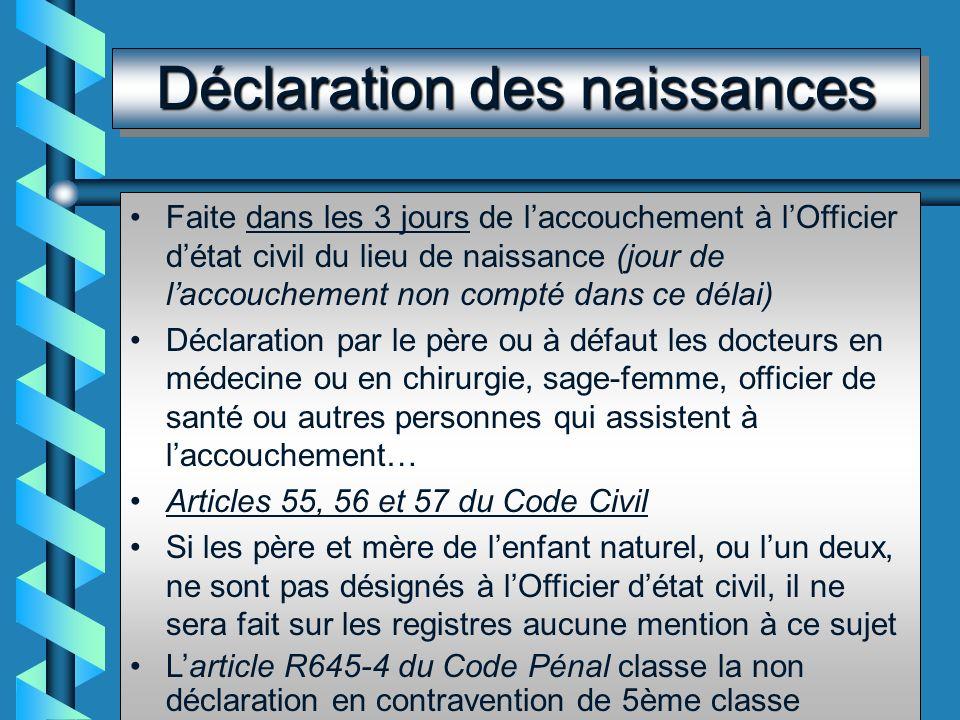 Certificat prénuptial Art 63 CC : obligation dun certificat médical avant le mariage (tout médecin peut procéder à lexamen et le rédiger) Art L153 CSP