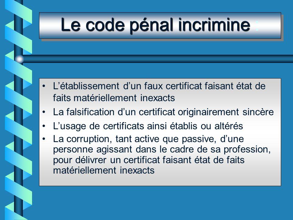 Code déontologie et certificat La rédaction des certificats médicaux fait partie intégrante de lexercice médical pour ce qui est les certificats, atte