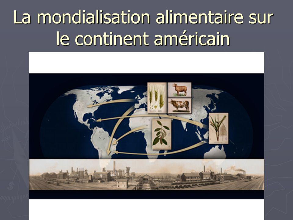 La mondialisation alimentaire sur le continent américain