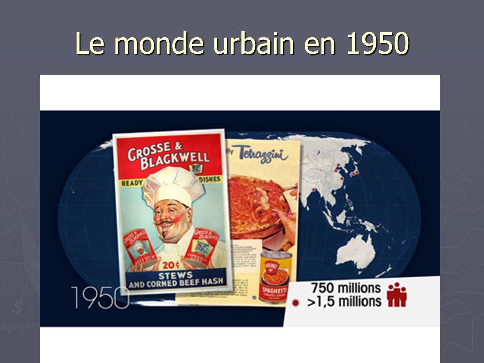 Le monde urbain en 1950
