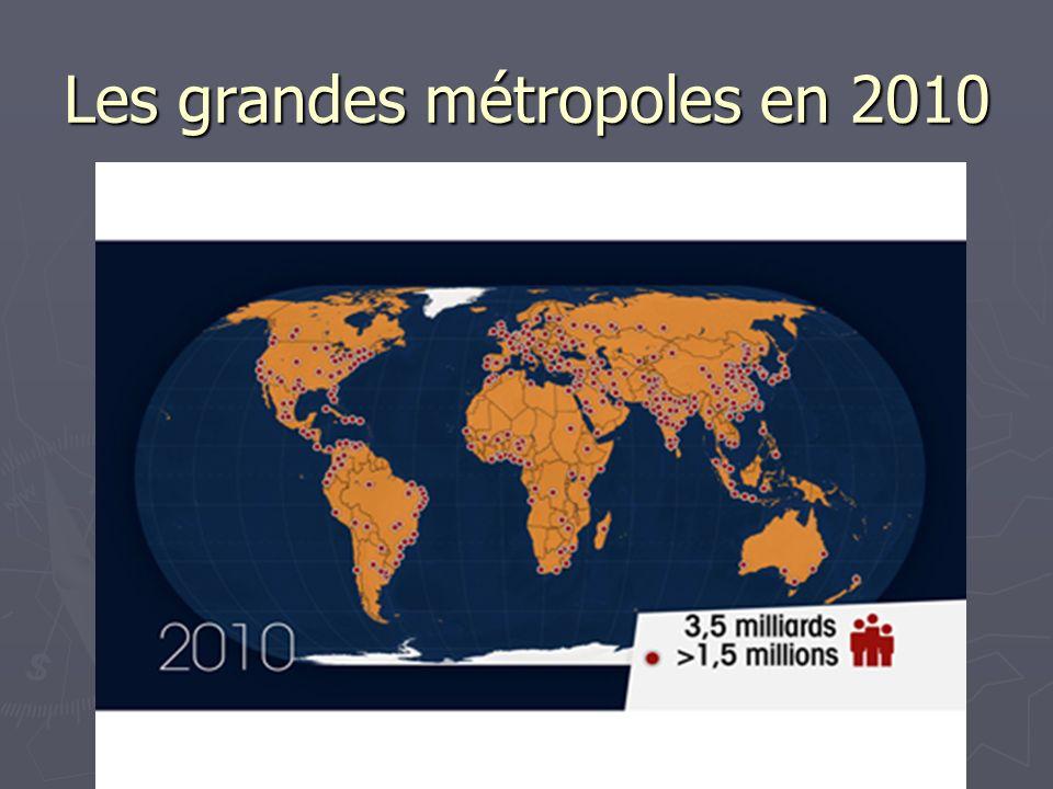 Les grandes métropoles en 2010