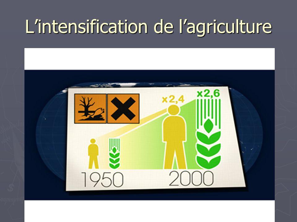 Lintensification de lagriculture