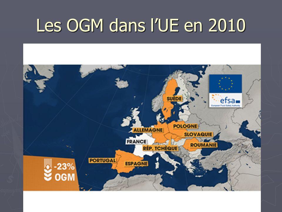 Les OGM dans lUE en 2010