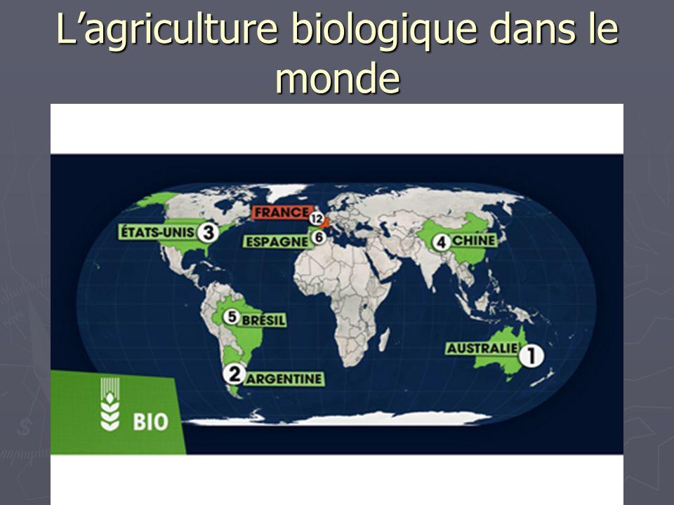 Lagriculture biologique dans le monde