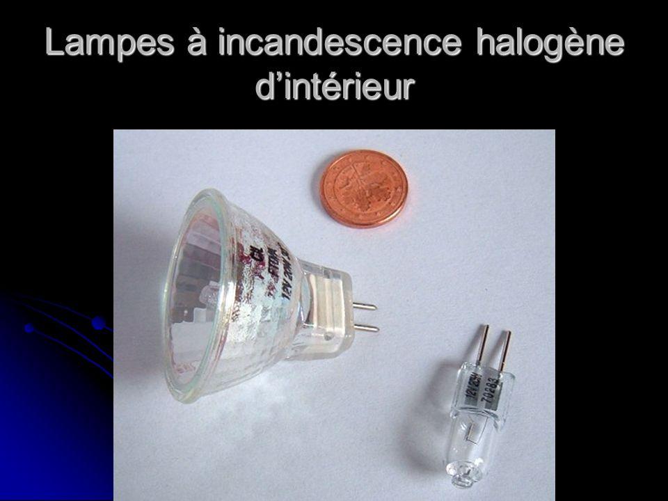 Lampes à incandescence halogène dintérieur