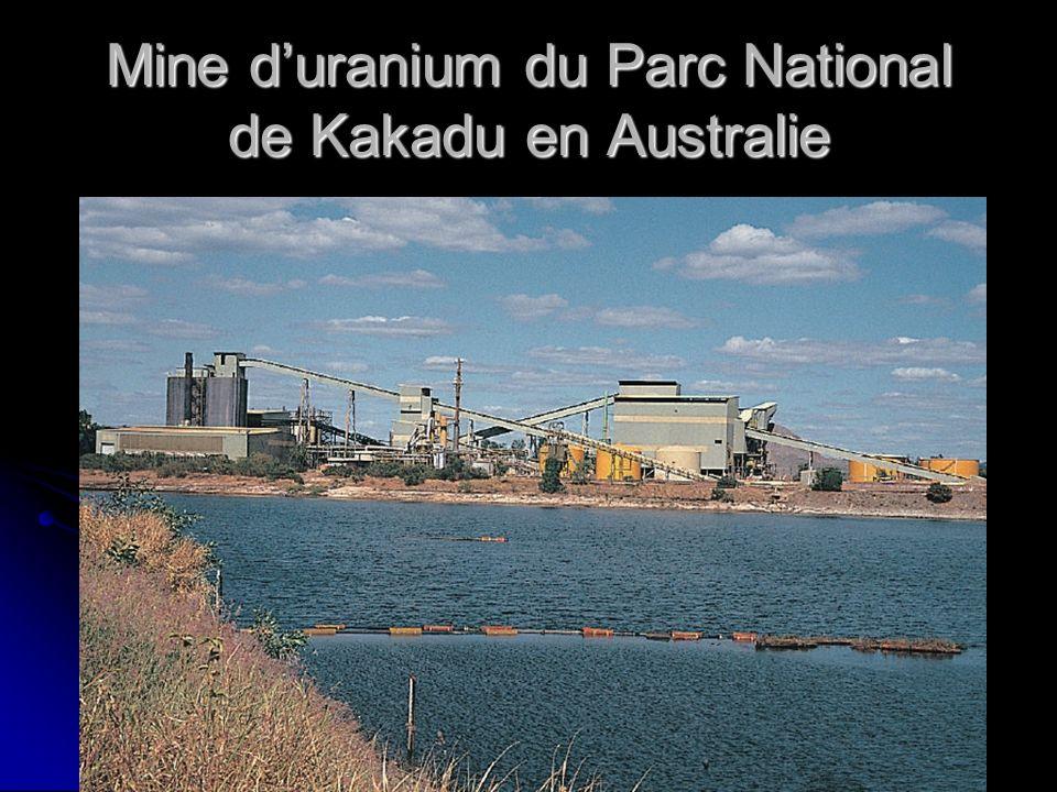 Mine duranium du Parc National de Kakadu en Australie