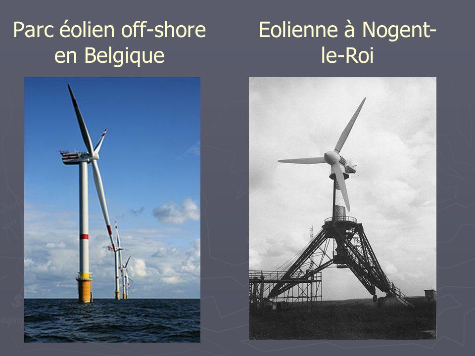 Parc éolien off-shore en Belgique Eolienne à Nogent- le-Roi
