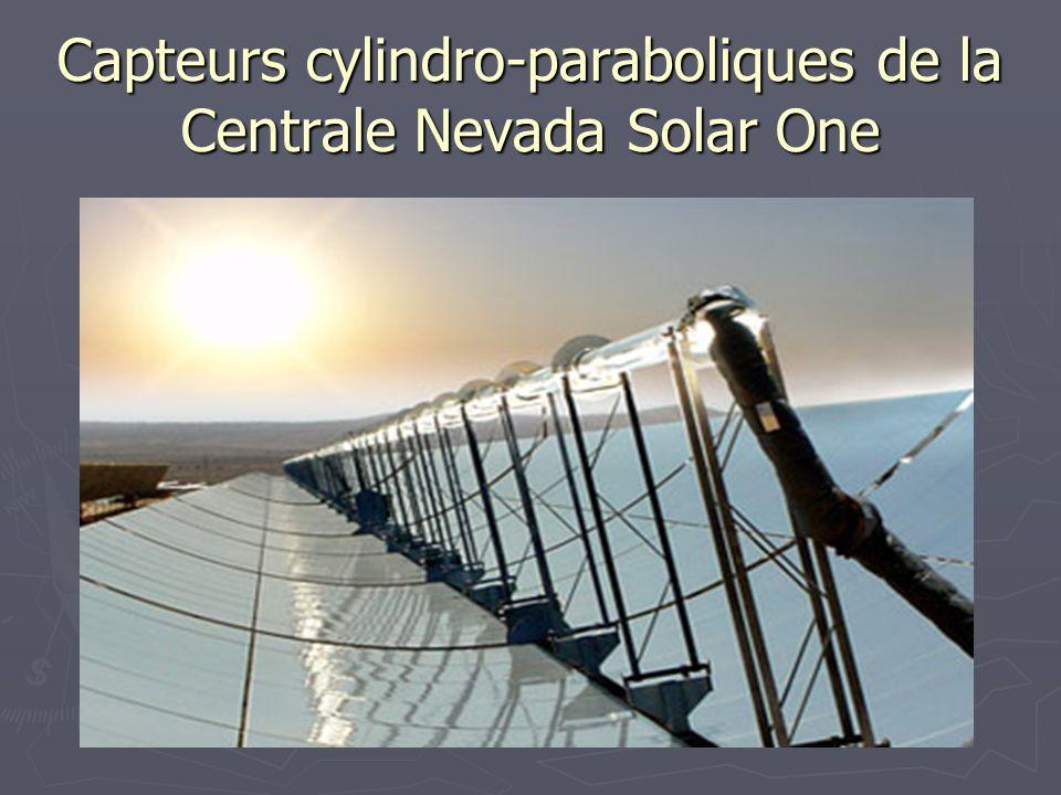 Capteurs cylindro-paraboliques de la Centrale Nevada Solar One