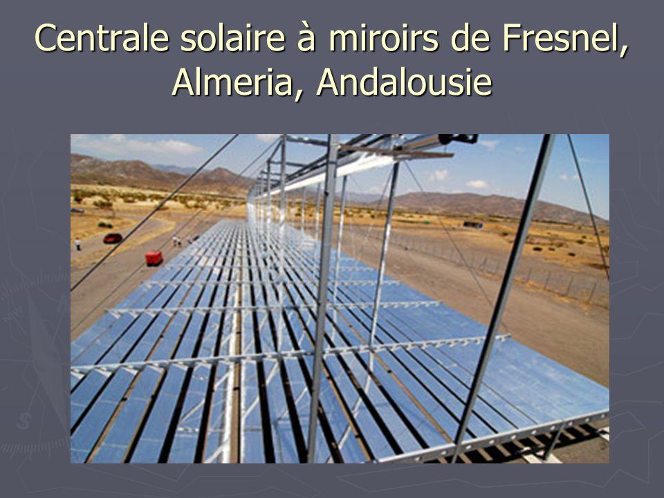 Centrale solaire à miroirs de Fresnel, Almeria, Andalousie