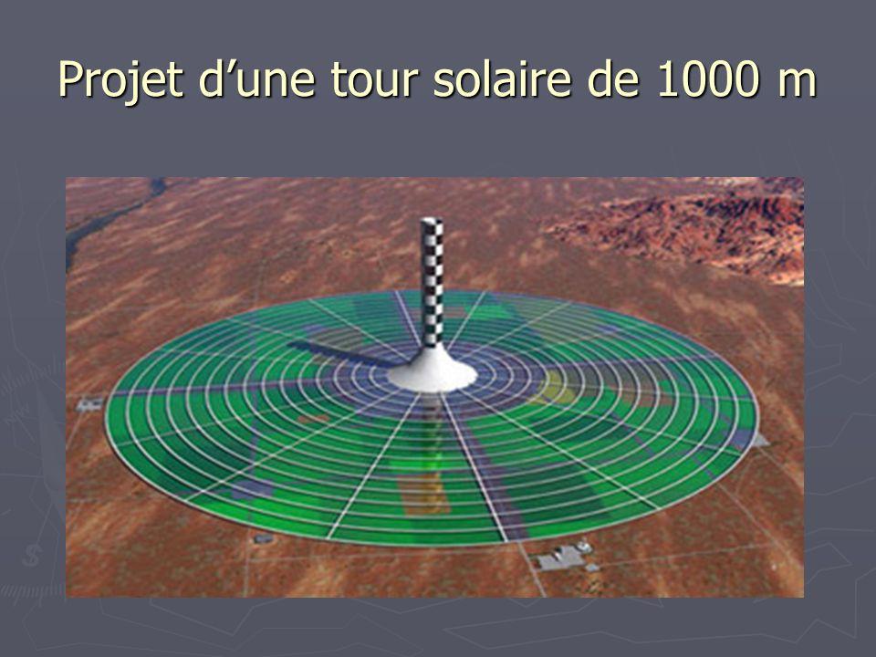 Projet dune tour solaire de 1000 m