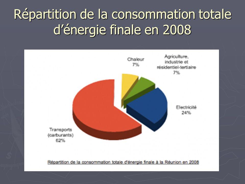 Répartition de la consommation totale dénergie finale en 2008