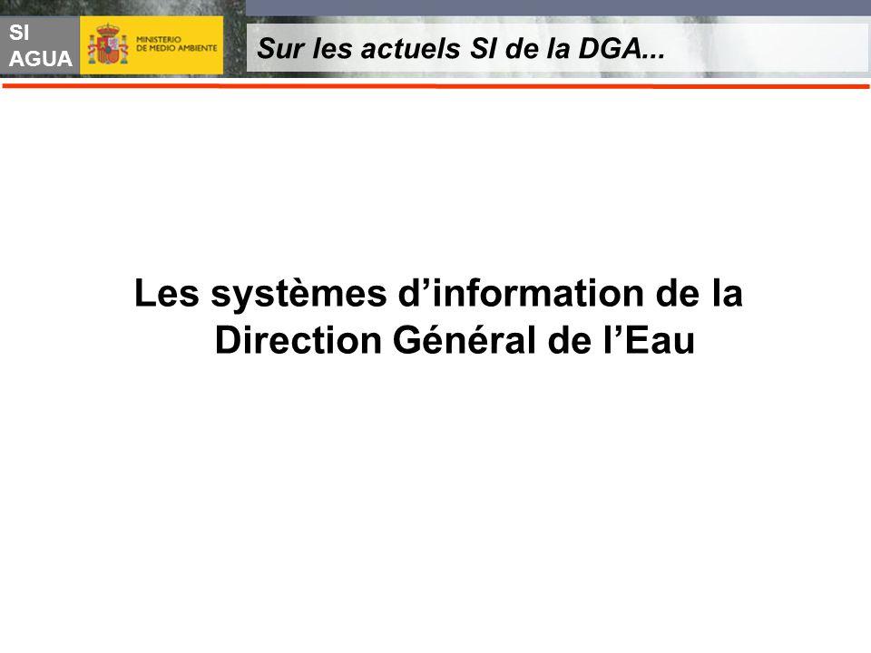SI AGUA Sur les actuels SI de la DGA... Les systèmes dinformation de la Direction Général de lEau