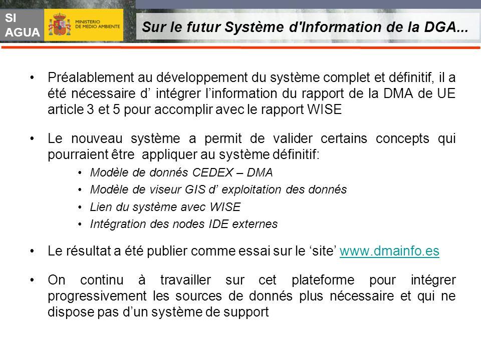 SI AGUA Sur le futur Système d'Information de la DGA... Préalablement au développement du système complet et définitif, il a été nécessaire d intégrer