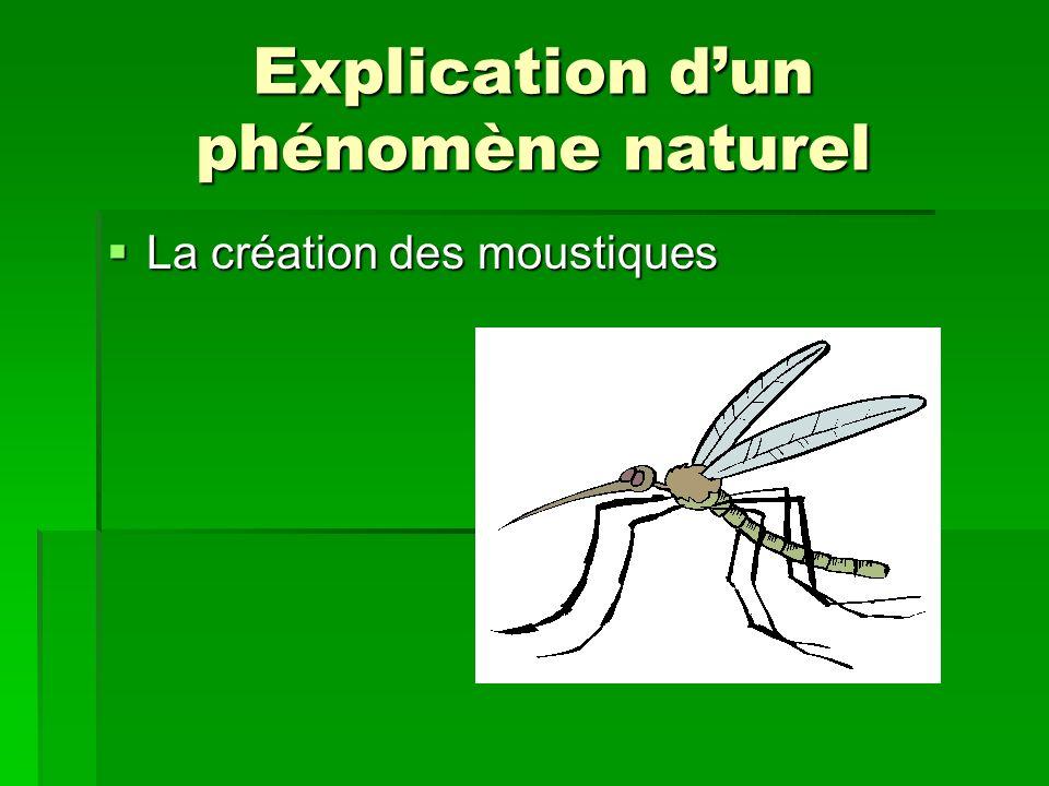 Explication dun phénomène naturel La création des moustiques La création des moustiques