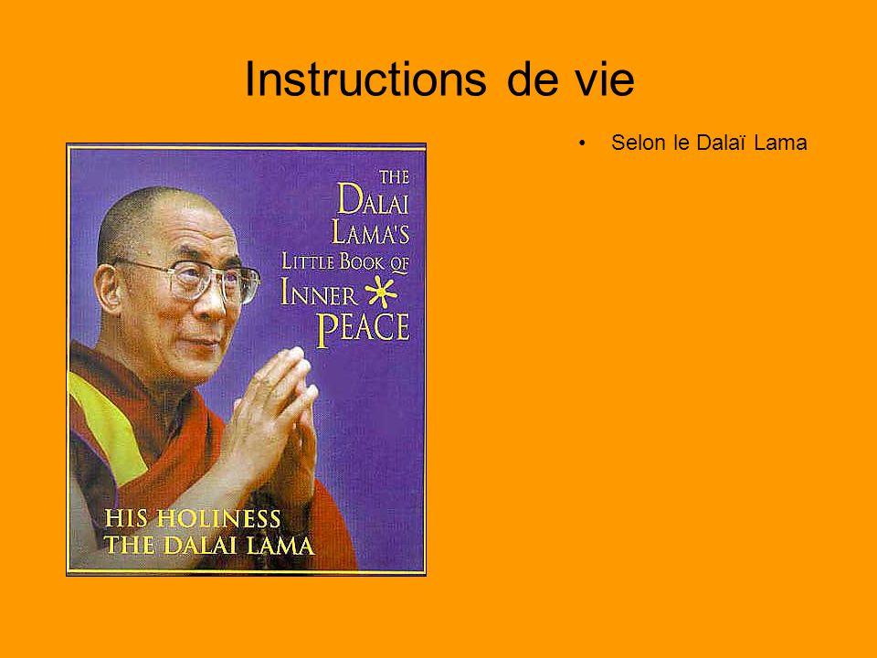 Instructions de vie Selon le Dalaï Lama