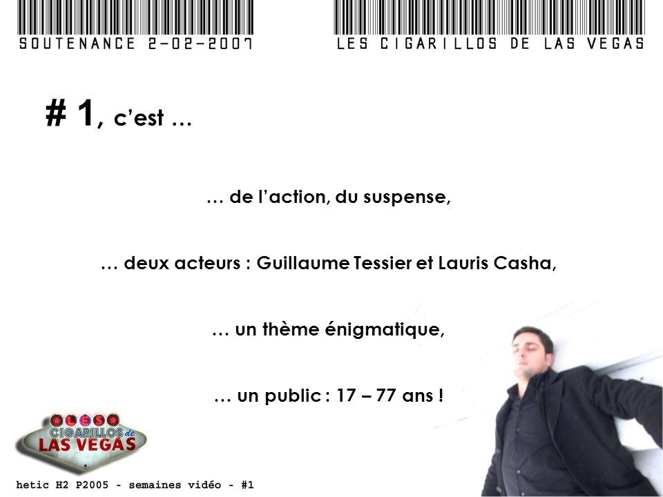 # 1, cest … … de laction, du suspense, … deux acteurs : Guillaume Tessier et Lauris Casha, … un thème énigmatique, … un public : 17 – 77 ans !