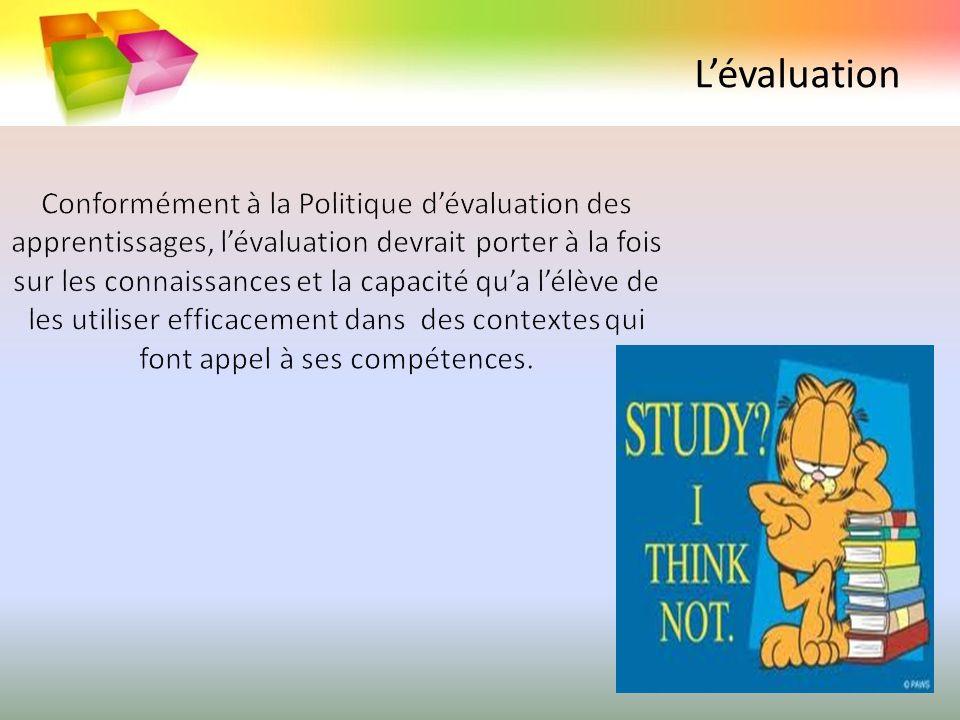 Structure La progression des apprentissages est présentée sous forme de tableaux qui regroupent les connaissances de façon semblable à celle des programmes disciplinaires.
