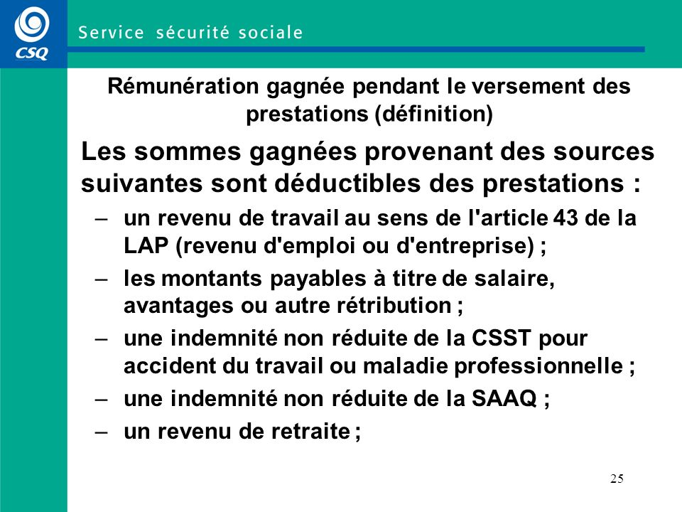 24 Calcul du taux de prestations (exemple 3)
