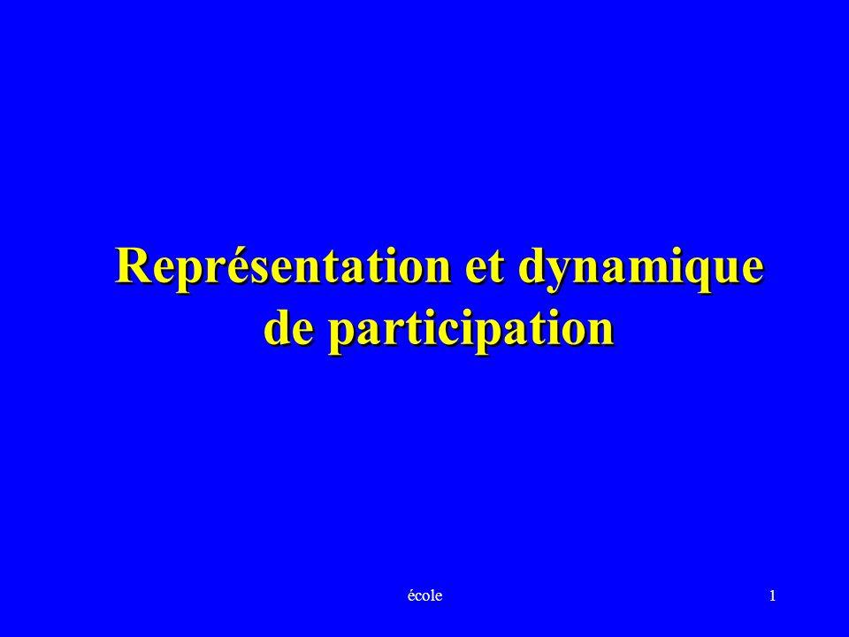 école1 Représentation et dynamique de participation