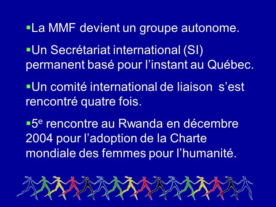 La MMF devient un groupe autonome.