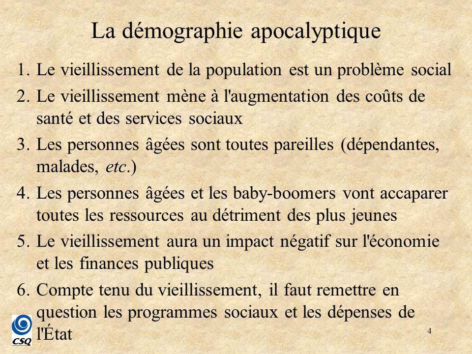 5 Plan de la présentation 1.Un « choc » démographique exceptionnel au Québec .