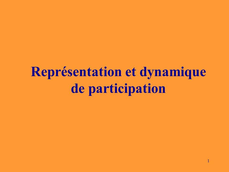 1 Représentation et dynamique de participation