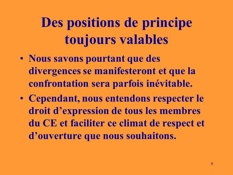 7 Le rôle de membre de CE comporte donc deux aspects: Assumer les exigences de la représentation formelle dun groupe dappartenance.