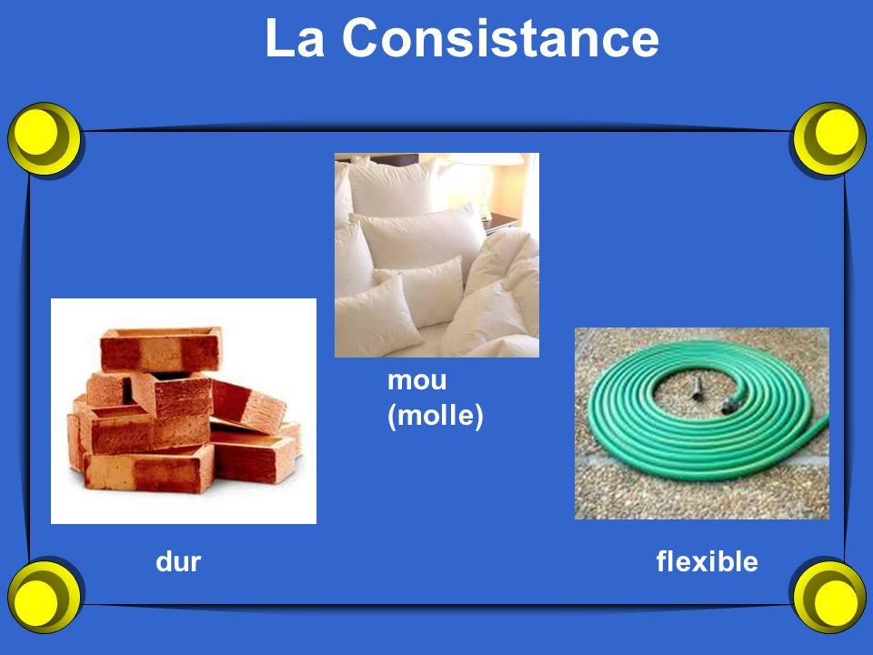 La Consistance dur mou (molle) flexible
