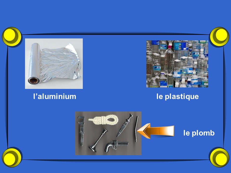 laluminiumle plastique le plomb